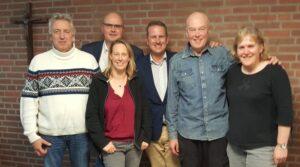 Foto (v.l.n.r.): Wolfram Linke (Beisitzer), Robert Erpenstein (Präsident), Stefanie Raneberg (Geschäftsführerin), Marc Weßeling (Vize-Präsident), Albert Holling (Schatzmeister), Rita Baum (Schriftführerin).