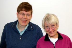 Team der Bücherei  in Kinderaus: Dietmar Wördenweber und Christel Schünemann