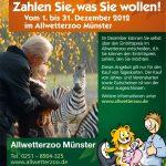 Allwetterzoo Münster: Zahlen Sie, was Sie wollen!