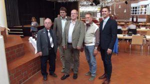 V.l.n.r: Lothar Wypyrsczyk, Klaus Rosenau, Manfred Igelbrink, Werner Abbing und Udo Köster