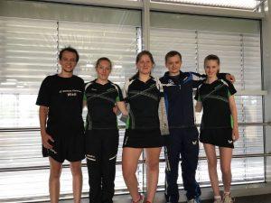 Von links: Wladimir Michelis, Hannah Langen, Jule Koschinski, Alexander Michelis, Lisa-Sophie Bauer. Foto: Westfalia Kinderhaus