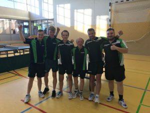 Spieler von links: Alexander Michelis, Lukas Ebbers, Wladimir Michelis, Johannes Urban, Sebastian Heeke, Artur Werner