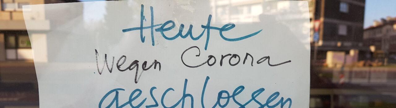 Am Imbiss von Herrn Le van Thuan an der Westhoffstraße ein Hinweis der eigenen Art . Foto: Thomas Kollmann.