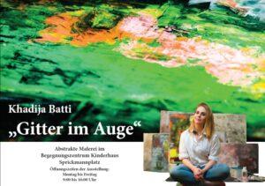 """Plakat Ausstellung """"Gitter im Kopf"""""""