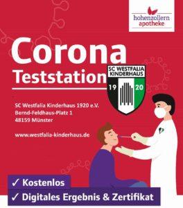 Westfalia ist Corona-Testzentrum