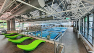 Das Hallenbad Kinderhaus ist bereit für die Badegäste. Es öffnet am Sonntag um 9 Uhr. Foto: Stadt Münster.