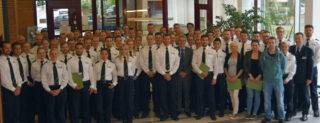 Die 73 neuen Kolleginnen und Kollegen. Foto: Polizei Münster