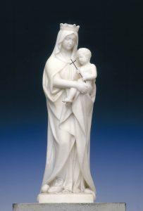 Die zarte Madonna aus weißem Carrara-Marmor (1861). Foto: Stadt Münster.