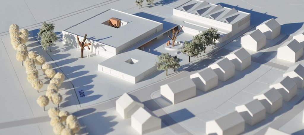 """Das Foto zeigt das Siegermodell, das """"ReindersArchitekten"""" für den Standort Sprakel erstellen ließen. Foto: DHP Drees & Huesmann Stadtplaner PartGmbB."""