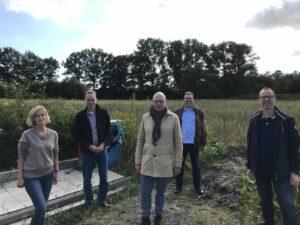 Im Einsatz für das Ehrenamt: Babette Lichtenstein van Lengerich, Stefan Leschniok, Markus Lewe, Olaf Bloch und Frank Sölken (v.l.) Foto: CDU.