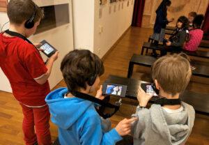 Einführung Kinder-Multimediaguide. Foto: Stadt Münster.