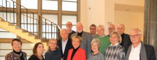 Die neu gewählten Mitglieder der Kommunalen Seniorenvertretung Münster, zusammen mit der bisherigen Vorsitzenden Margareta Seiling (links). -Foto: Presseamt Münster.