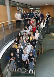 Angehende Medienscouts von zehn Schulen machen sich in einem Workshop fit . Foto: Presseamt Münster.