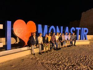 """Verliebt in die Partnerstadt: """"I love Monastir"""" an der Strandpromenade bei der Festungsanlage Ribat."""