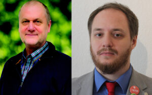Franz Pohlmann (ÖDP) und Lars Nowak (Die PARTEI) werden sich im neuen Stadtrat für die ökologisch-soziale Seite auch satirisch einsetzen.